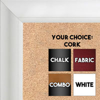 BB1520-8 Classic White Large Wall Board Cork Chalk Dry Erase