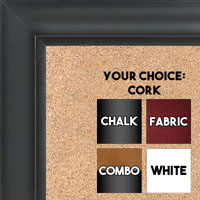 BB1520-9 Classic Black Large Wall Board Cork Chalk Dry Erase