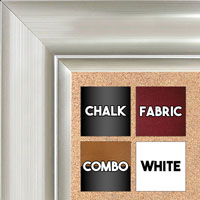 BB1521-10 Silver Extra Large Wall Board Cork Chalk Dry Erase