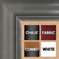 BB1521-6 Pewter Extra Large Wall Board Cork Chalk Dry Erase