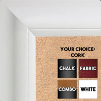 BB1521-8 White Extra Large Wall Board Cork Chalk Dry Erase