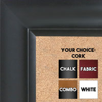 BB1521-9 Classic Black Extra Large Wall Board Cork Chalk Dry Erase