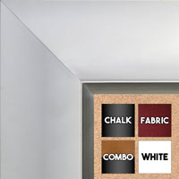 BB1522-6 White With Silver Trim Extra Extra Large Wall Board Cork Chalk Dry Erase