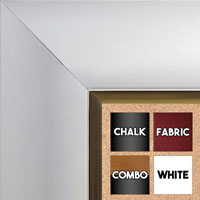 BB1522-7 White With Gold Trim Extra Extra Large Wall Board Cork Chalk Dry Erase