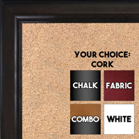BB1523-1  Espresso Coffee Brown Custom  Medium  Wall Board Cork Chalk Dry Erase