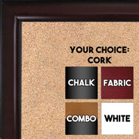 BB1523-4  Mahogany Custom  Medium  Wall Board Cork Chalk Dry Erase