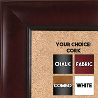 BB1525-4 Mahogany - Extra Large  Wall Board Cork Chalk Dry Erase