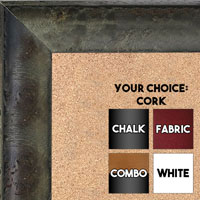 BB1530-1  Distressed Burlwood Gray Custom  Large  Wall Board Cork Chalk Dry Erase