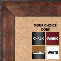 BB1530-4  Distressed Burlwood Cherry Custom  Large  Wall Board Cork Chalk Dry Erase