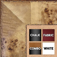 Burl Wood Look - Chalkboards, Cork, Dry Erase, Combination Or Fabric Boards