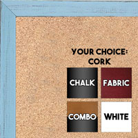 BB1532-11 Distressed Soft Blue - Small Custom Cork Chalk or Dry Erase Board