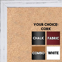 BB1532-2 Distressed Soft White -  Small Custom Cork Chalk or Dry Erase Board