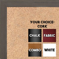 BB1532-3 Distressed Dark Brown - Small Custom Cork Chalk or Dry Erase Board
