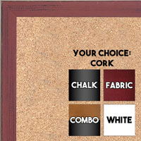 BB1532-4 Distressed Red  - Small Custom Cork Chalk or Dry Erase Board