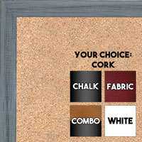 BB1532-6 Distressed Blue Gray - Small Custom Cork Chalk or Dry Erase Board