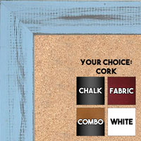 BB1533-11 Distressed Soft Blue - Medium Custom Cork Chalk or Dry Erase Board