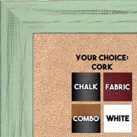 BB1533-12 Distressed Soft Green - Medium Custom Cork Chalk or Dry Erase Board
