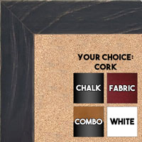 BB1533-1 Distressed Black -  Medium Custom Cork Chalk or Dry Erase Board
