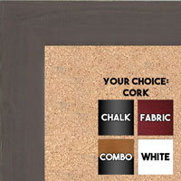 BB1533-3 Distressed Dark Brown - Medium Custom Cork Chalk or Dry Erase Board