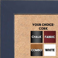 BB1533-5 Distressed Dark Blue - Medium Custom Cork Chalk or Dry Erase Board
