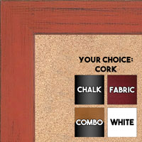 BB1533-8 Distressed Orange - Medium Custom Cork Chalk or Dry Erase Board
