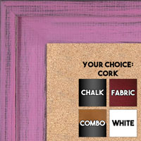 BB1534-10 Distressed Soft Pink - Extra Large Custom Cork Chalk or Dry Erase Board