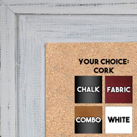 BB1534-2 Distressed Soft White - Extra Large Custom Cork Chalk or Dry Erase Board