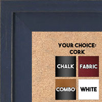BB1534-5 Distressed Dark Blue - Extra Large Custom Cork Chalk or Dry Erase Board