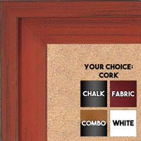 BB1534-8 Distressed Orange - Extra Large Custom Cork Chalk or Dry Erase Board