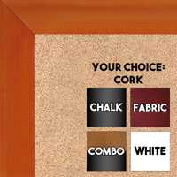 BB1536-2 Glossy Orange - Medium Custom Cork Chalk or Dry Erase Board
