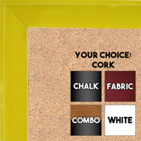 BB1536-3 Glossy Yellow - Medium Custom Cork Chalk or Dry Erase Board