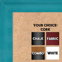 BB1536-5 Glossy Blue - Medium Custom Cork Chalk or Dry Erase Board