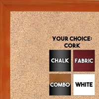 BB1537-2 Glossy Orange - Small Custom Cork Chalk or Dry Erase Board