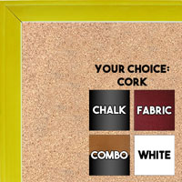 BB1537-3 Glossy Yellow - Small Custom Cork Chalk or Dry Erase Board