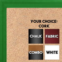 BB1537-4 Glossy Green - Small Custom Cork Chalk or Dry Erase Board