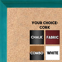 BB1537-5 Glossy Blue - Small Custom Cork Chalk or Dry Erase Board
