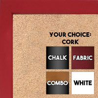 BB1538-1 Red - Small Custom Cork Chalk or Dry Erase Board