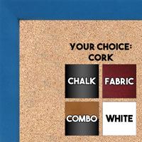 BB1538-3 Blue - Small Custom Cork Chalk or Dry Erase Board