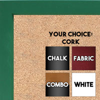BB1538-4 Green - Small Custom Cork Chalk or Dry Erase Board
