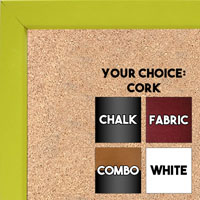 BB1538-5 Yellow - Small Custom Cork Chalk or Dry Erase Board