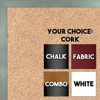 BB1540-11 Thin Metal Slate Grey Custom Cork Chalk or Dry Erase Board Small To Large