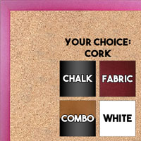BB1540-3 Thin Metal Matte Black Custom Cork Chalk or Dry Erase Board Small To Large
