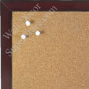 BB1541-6 Distressed Burgundy Red - Small Custom Cork Chalk or Dry Erase Board