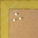 BB1542-4 Distressed Yellow Large Custom Cork Chalk or Dry Erase Board