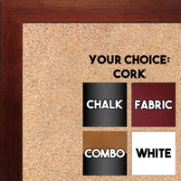 BB1544-3 Cherry - 3/4 Inch Wide X 1 1/4 Inch High - Small Custom Cork Chalk Dry Erase
