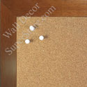 BB1844-12 Walnut Large Wall Board Cork Chalk Dry Erase