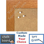 "BB1545-2 Classic Honey Maple 1 3/4"" Wide Value Price Medium To Extra Large Custom Cork Chalk Or Dry Erase Board"