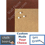 "BB1545-3 Rich Cherry 1 3/4"" Wide Value Price Medium To Extra Large Custom Cork Chalk Or Dry Erase Board"