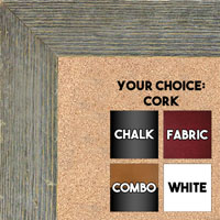 BB1548-1 Distressed Gray Driftwood - Extra Large  Chalkboard Cork Dry Erase