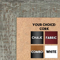 BB1555-3 Distressed Brown Gray - Extra Large Chalkboard Cork Dry Erase